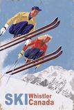 Ski Whistler  Canada - Vintage Skiers