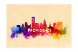 Providence  Rhode Island - Skyline Abstract