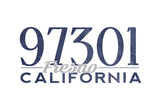Fresno  California - 97301 Zip Code (Blue)