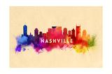 Nashville  Tennessee - Skyline Abstract