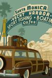 Santa Monica  California - Route 66 - Pier Scene
