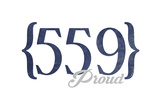 Fresno  California - 559 Area Code (Blue)