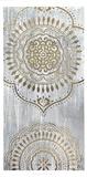 Metallic Foil Indigo Mandala I Reproduction d'art par June Erica Vess