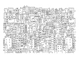City Townhouses Coloring Art