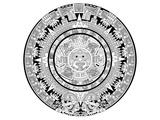 Aztec Calendar Coloring Art