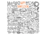 Happy Thanksgiving Coloring Art