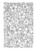 Flowers & Greenery Coloring Art Poster à colorier