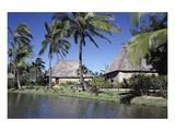 Polynesian Thatched Huts Oahu HI