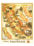 Unique Map of California 1885