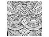 Symmetric Wing Arches Coloring Art Poster à colorier