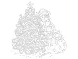 Santa Coloring Art Poster à colorier