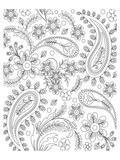 Teardrop Floral Design Coloring Art Poster à colorier