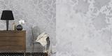 Silhouette Metallic Silver Self-Adhesive Wallpaper