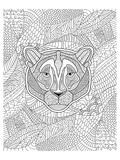 Tiger & Jungle Design Coloring Art Poster à colorier
