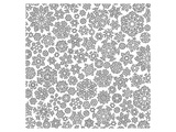 Snow Flake Crystals Coloring Art Poster à colorier