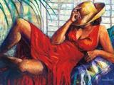 Chilling Reproduction d'art par Monica Stewart
