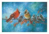 Cardinals Family Reproduction d'art par Vickie Wade