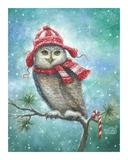 HOOT this Christmas! Reproduction d'art par Vickie Wade