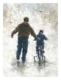 First Bike Ride Reproduction d'art par Vickie Wade