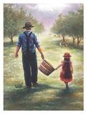 Dad's Helper Reproduction d'art par Vickie Wade