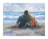 BeachLovers I Reproduction d'art par Vickie Wade