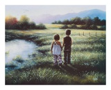 Country Kids Reproduction d'art par Vickie Wade