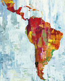 Latin America Map Giclée par Paul Duncan