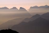 Alpine Sunset Reproduction d'art par Lorenzo Rieg