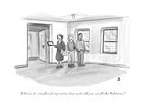"""""""I know it's small and expensive  but wait till you see all the Pokémon"""" - New Yorker Cartoon"""