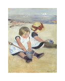 Children Playing on the Beach  1884