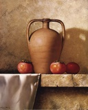 Olive Oil Jug with Persimmons