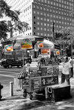 Safari CityPop Collection - NYC Hot Dog with Zebra Man Papier Photo par Philippe Hugonnard