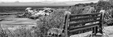 Awesome South Africa Collection Panoramic - View to the Sea B&W