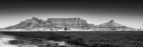 Awesome South Africa Collection Panoramic - Table Mountain - Cape Town B&W