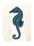 Blue Seahorses on Cream b