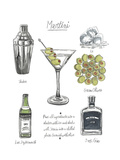 Classic Cocktail - Martini Reproduction d'art par Naomi McCavitt