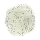 Woodland Vignettes III Reproduction d'art par June Erica Vess