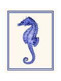 Mixed Nautical Blue on Cream e Reproduction d'art par Fab Funky