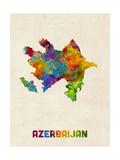 Azerbaijan Watercolor Map