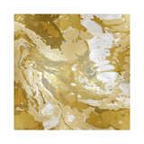 Marbleized in Gold and Silver II