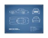 Mercedes 300SL Gullwing-Blue
