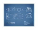 Jaguar XK-120-Blue