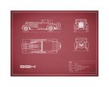 Mercedes SSK-Maroon