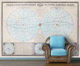 Double Hemisphere - 1862 Tableau Moderne - Vintage Self-Adhesive Wallpaper