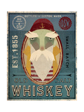 Fisherman VIII Old Salt Whiskey Giclée premium par Ryan Fowler