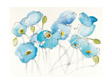 Black Line Poppies III Watercolor