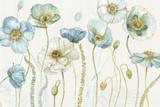 My Greenhouse Flowers I on Linen Cream