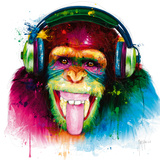 DJ Monkey Giclée par Patrice Murciano