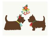 Dogs under Mistletoe