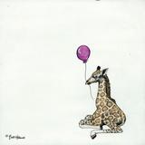 Nursery Giraffe Reproduction d'art par Britt Hallowell